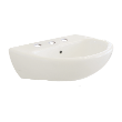 LW665JT1W/F - Dino Wall Basin 3TH Incl bkts