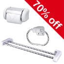 70% OFF SELECTED BATHROOM ACCESSORIES