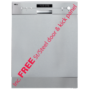 AstiVita Dishwasher SS Semi Integrated w/door & kick WELS 4.5 Star 10.5L
