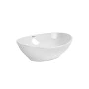 Ebony Oval Vessel Basin NTH - 405x335x150mm