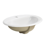 Fiona Round Drop In Basin 1TH O/Flow - 530x450x190mm