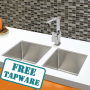 Franklyn Twin Sink Package w/- Enzo Gooseneck Sink Mixer
