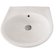 Remo Wall Basin 430 x 435 NTH WH  Incl bkts