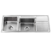 Bronte 1160 Dbl LH 1TH Sink - Brushed .9mm