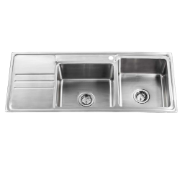 Bronte 1160 Dbl RH 1TH Sink - Brushed .9mm