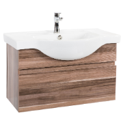 Orchid 800 Wall Hung Vanity Unit Timbergrain 1TH O/Flow