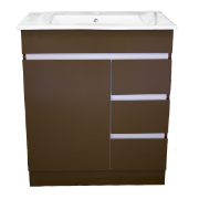 Dover 750 Vanity Unit Mocha 1TH O/Flow
