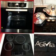 60cm Electric Oven/Ctop SS Blk 8 Function Oven/4 Zone Ceramic