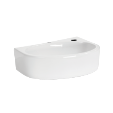 Aria Round Wall Basin 1TH - 420x295x135mm