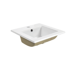 Ashton Square Inset Basin 1TH O/Flow - 410x410x170mm