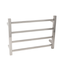 Towel Rail Heated 4 Bar 45W 450x600 SQ 304SS