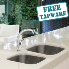 Hawthorn Twin Sink Pack w/- Jolly Plus G/neck Sink Mixer