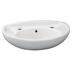 Tina Wall Basin 530 x 300 2TH WH Incl bkts