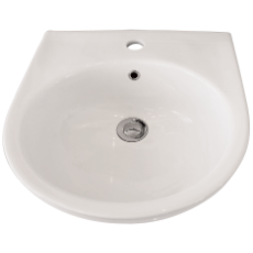 Remo Wall Basin 1TH WH Incl bkts 430x435x145