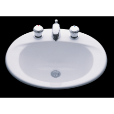 Casa Vanity Basin 3TH WH 508x432x229mm