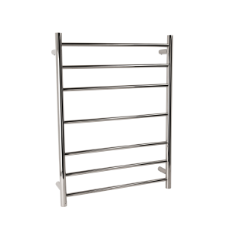 Towel Rail Heated 7 Bar 70W - 800x600 Round 304SS
