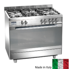 Gas/Elec 90cm Upright Cooker Dual Fuel Gas Ctop/Elec Oven