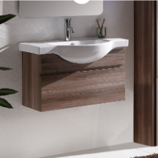 Orchid 900 Wall Hung Vanity Unit Timbergrain 1TH O/Flow