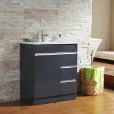 Dover 750 Vanity Unit Charcoal  1TH O/Flow