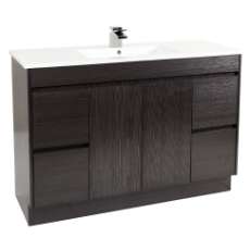 Deora 1200 Vanity Unit Dark Timbergrain 1TH O/Flow