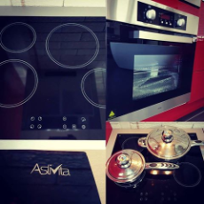60cm Electric Oven/Ctop SS 8 Function Oven/4 Zone Ceramic