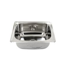 Darling 45ltr Inset L/Tub SS - 600x500 .8mm incl bypass kit
