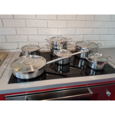Cookware Set Deluxe 13 pce Stainless Steel suit Induction Ceramic Gas cooktops