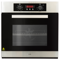 8 Function Electric 60cm Oven Electronic timer S/Steel Black