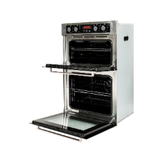 8/4 Function Elec Double Oven 60cm 60/40ltr LED Display