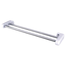 Double Towel Rail CP/WH