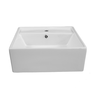 Ava Square Semi Rec Basin 1TH - O/Flow 410x410x145mm