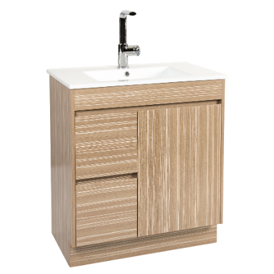 Lima 750 Vanity Unit Light Timbergrain 1TH O/Flow