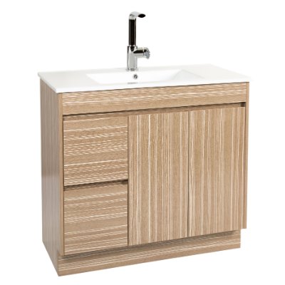 Lima 900 Vanity Unit Light Timbergrain 1TH O/Flow