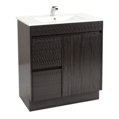 Deora 750 Vanity Unit Dark Timbergrain 1TH O/Flow