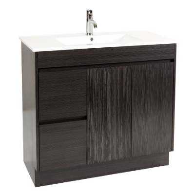 Deora 900 Vanity Unit Dark Timbergrain 1TH O/Flow