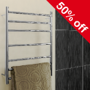 50% OFF SELECTED HEATED TOWEL RAILS